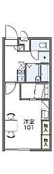 JR中央線 高尾駅 バス12分 鍛冶屋敷下車 徒歩2分の賃貸マンション 3階1Kの間取り