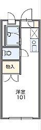 JR中央線 西八王子駅 徒歩8分の賃貸アパート 2階1Kの間取り