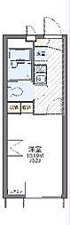 JR中央線 西八王子駅 バス12分 横川下車 徒歩8分の賃貸アパート 1階1Kの間取り