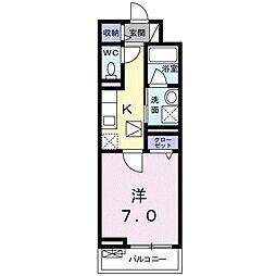 JR埼京線 中浦和駅 徒歩6分の賃貸アパート 1階1Kの間取り