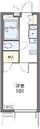 JR東海道本線 浜松駅 徒歩18分の賃貸マンション 2階1Kの間取り