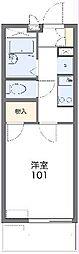 遠州鉄道 新浜松駅 徒歩15分の賃貸マンション 3階1Kの間取り