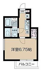 京王井の頭線 神泉駅 徒歩7分の賃貸マンション 1階1Kの間取り