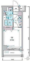 JR山手線 田町駅 徒歩12分の賃貸マンション 3階1Kの間取り