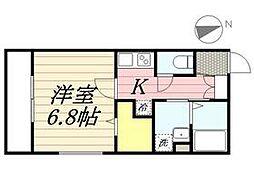 都営三田線 白金高輪駅 徒歩9分の賃貸マンション 1階1Kの間取り