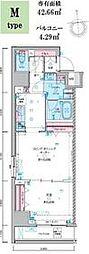 ジェノヴィア東神田グリーンヴェール 9階1LDKの間取り