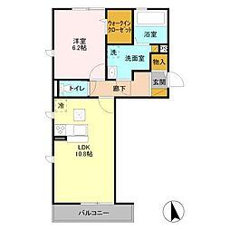 JR総武線 稲毛駅 徒歩13分の賃貸アパート 1階1LDKの間取り