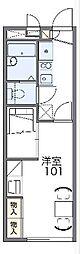JR山陰本線 亀岡駅 徒歩14分の賃貸アパート 1階1Kの間取り