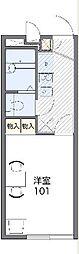 JR山陰本線 亀岡駅 バス10分 京都学園大学前下車 徒歩8分の賃貸アパート 1階1Kの間取り