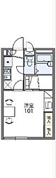 JR山陰本線 亀岡駅 徒歩15分の賃貸アパート 1階1Kの間取り