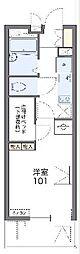 JR山陰本線 亀岡駅 徒歩5分の賃貸マンション 3階1Kの間取り