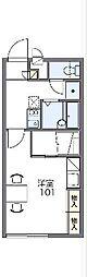 JR両毛線 前橋駅 バス43分 関根町三丁目下車 徒歩3分の賃貸アパート 1階1Kの間取り