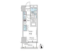 東京メトロ銀座線 表参道駅 徒歩13分の賃貸マンション 10階ワンルームの間取り