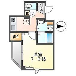 京急本線 梅屋敷駅 徒歩8分の賃貸マンション 2階1Kの間取り