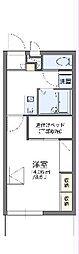 JR中央線 高尾駅 バス12分 鍛冶屋敷下車 徒歩2分の賃貸マンション 2階1Kの間取り