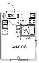 東急池上線 千鳥町駅 徒歩2分の賃貸マンション 3階1Kの間取り