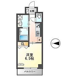 都営大江戸線 蔵前駅 徒歩9分の賃貸マンション 4階1Kの間取り