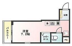 京急空港線 穴守稲荷駅 徒歩3分の賃貸アパート 1階ワンルームの間取り