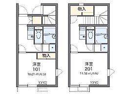 名古屋市営鶴舞線 川名駅 徒歩12分の賃貸アパート 2階1Kの間取り