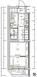 都営三田線 西巣鴨駅 徒歩6分の賃貸マンション 3階1Kの間取り