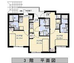 西武新宿線 武蔵関駅 徒歩10分の賃貸アパート 3階1Kの間取り
