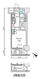 都営新宿線 浜町駅 徒歩3分の賃貸マンション 5階1Kの間取り