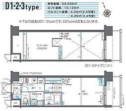 JR山手線 田町駅 徒歩10分の賃貸マンション 5階1Kの間取り