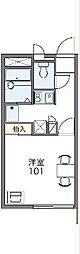 名鉄河和線 成岩駅 徒歩13分の賃貸アパート 1階1Kの間取り