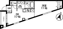 AIKA 2階1DKの間取り
