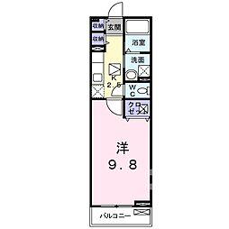 東武伊勢崎線 太田駅 徒歩13分の賃貸アパート 1階1Kの間取り
