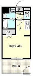 JR京浜東北・根岸線 さいたま新都心駅 徒歩7分の賃貸マンション 1階1Kの間取り