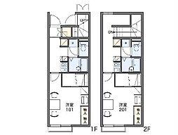 JR両毛線 桐生駅 バス26分 境野中学校入口下車 徒歩5分の賃貸アパート 2階1Kの間取り