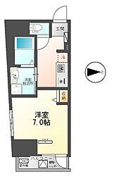 東武伊勢崎線 梅島駅 徒歩14分の賃貸マンション 9階1Kの間取り