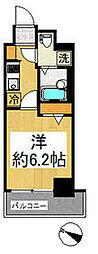 京急本線 戸部駅 徒歩3分の賃貸マンション 2階1Kの間取り