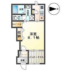 近鉄京都線 上鳥羽口駅 徒歩18分の賃貸アパート 1階1Kの間取り