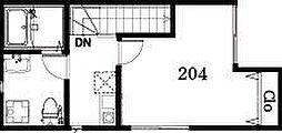 Platanus Court 2階1Kの間取り