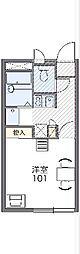 JR京浜東北・根岸線 港南台駅 徒歩12分の賃貸アパート 1階1Kの間取り