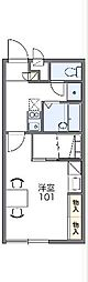 JR御殿場線 御殿場駅 バス11分 六日市場下車 徒歩7分の賃貸アパート 2階1Kの間取り