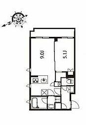 京急本線 立会川駅 徒歩3分の賃貸マンション 4階1LDKの間取り