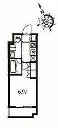 京急本線 立会川駅 徒歩3分の賃貸マンション 4階1Kの間取り