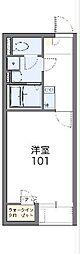 東武伊勢崎線 羽生駅 徒歩16分の賃貸アパート 1階1Kの間取り