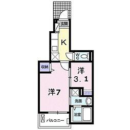 JR予讃線 讃岐塩屋駅 徒歩8分の賃貸アパート 1階1Kの間取り