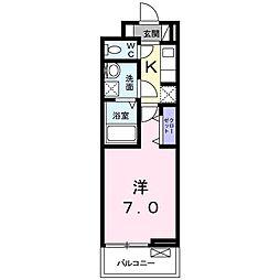 JR高徳線 栗林公園北口駅 徒歩12分の賃貸アパート 2階1Kの間取り
