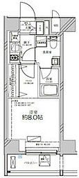 JR高崎線 尾久駅 徒歩4分の賃貸マンション 11階1Kの間取り