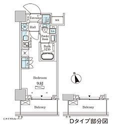 JR山手線 大塚駅 徒歩2分の賃貸マンション 13階ワンルームの間取り