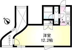 東京メトロ有楽町線 月島駅 徒歩4分の賃貸マンション 3階1Kの間取り