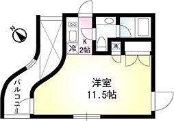 東京メトロ有楽町線 月島駅 徒歩4分の賃貸マンション 4階1Kの間取り