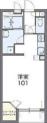 JR御殿場線 御殿場駅 バス11分 六日市場下車 徒歩8分の賃貸アパート 1階1Kの間取り