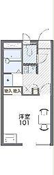 JR東北本線 久喜駅 徒歩23分の賃貸アパート 1階1Kの間取り