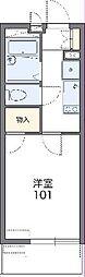 JR東北本線 久喜駅 徒歩13分の賃貸マンション 3階1Kの間取り